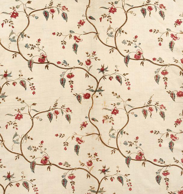 Short gown fabric - 1780-1802 cotton block print