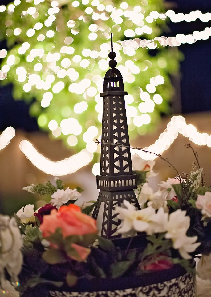 Paris themed wedding table centerpiece party decor for Paris themed decor