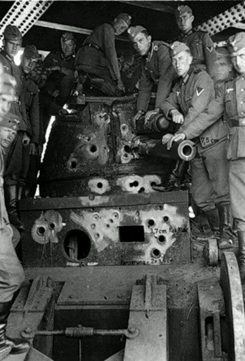 France 1940.  I'm trying not to be too dark here.  I can't imagine the horror of being inside this small tank with the bullets and shells hitting and piercing its walls.