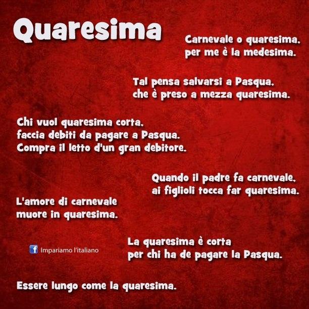 La quaresima ~ Lent...
