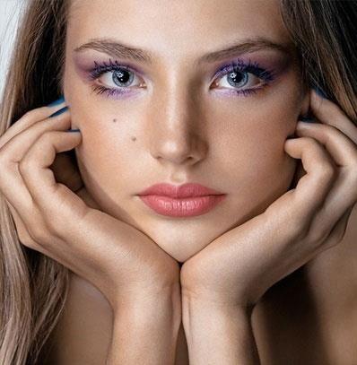 Какой макияж подойдет под платье баклажанного цвета