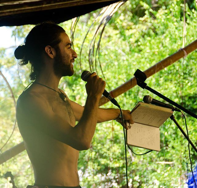 Ha this was at Envision Festival 2 years ago when I was trying out my best man bun. It was fun for a while I have much more respect for anyone who takes care of their long hair.   I'm returning this year and grateful to share my voice and my presence four different times: -EcoVillages & Intentional Communities: Governance Relationships & Currencies Panel @ Superhero Academy Stage -Resilience & Incidence: Political Permaculture (Moderating this panel) @ Village Stage -NuMundo's Networking the…