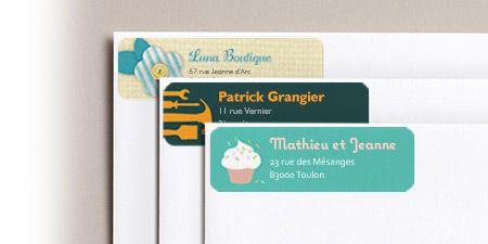 Étiquettes d'adresse, étiquettes autocollantes personnalisées Vistaprint