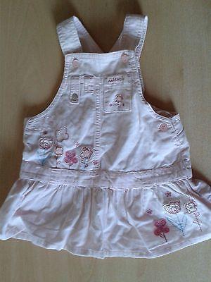 Next pink dungaree dress age 3-6mths