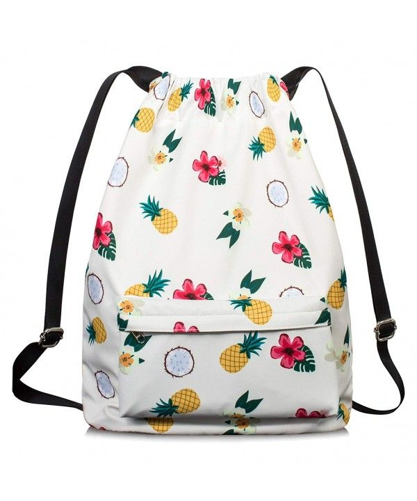 Drawstring Bag for Women Drawstring Hiking Backpack Gym Bag for Women by -  Pineapple-drawstring - C1189XT0830   Gym backpack, Gym bag, Bags