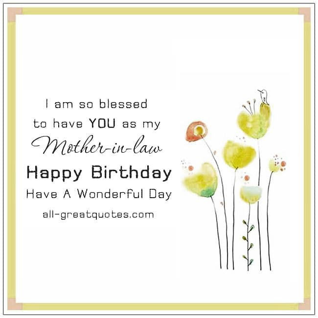 Free Birthday Cards For Mother In Law Birthday Cards Mother In Law Birthday Birthday Cards For Mother Happy Birthday Mother