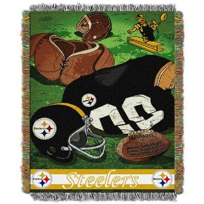 Northwest Co. NFL Steelers Vintage Tapestry Throw