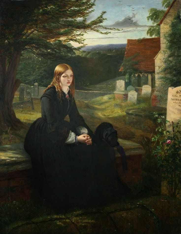 LARGE SIZE PAINTINGS: Thomas BROOKS The Sister's Grave