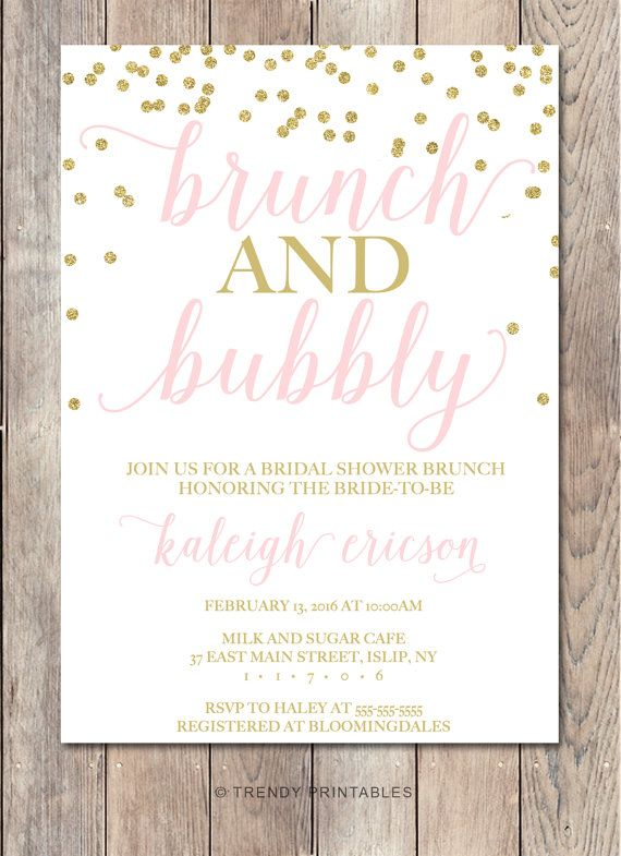 53 best brunch invitationsquotes images on pinterest brunch bridal shower invitation bridal shower invite by trendyprintables stopboris Image collections