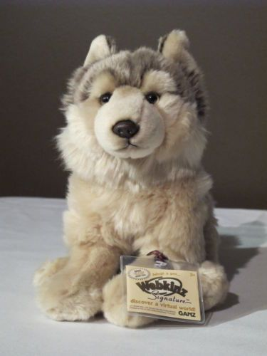 WEBKINZ Signature TIMBER WOLF Sealed Tag NWT Unused Code NEW Rare Plush Dog
