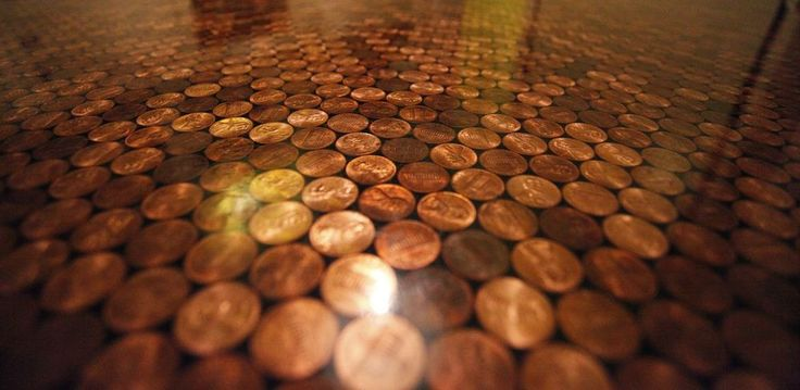 Penny Tile Floors - Using Copper Coins as Mosaic Tiles - Homeli