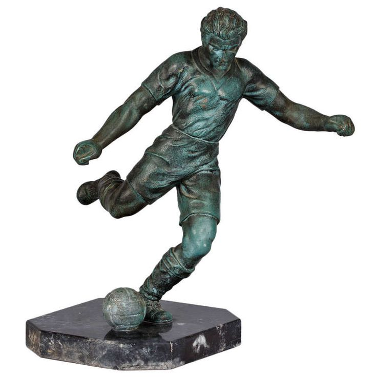 French Vintage Soccer Trophy | From a unique collection of antique and modern sculptures at http://www.1stdibs.com/furniture/more-furniture-collectibles/sculptures/