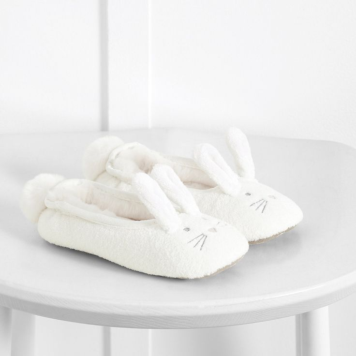 Fluffy Bunny Slippers | The White Company UK