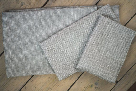 Linen Grey Waffle Face Hand And Bath Towels Lightweight Linen