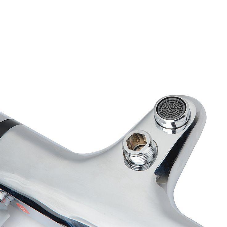 chrome thermostatic bath shower mixer tap valve deck mounted bathroom focus with rail kit