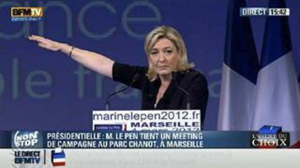 Le salut fasciste de l'argentier de Marine Le Pen