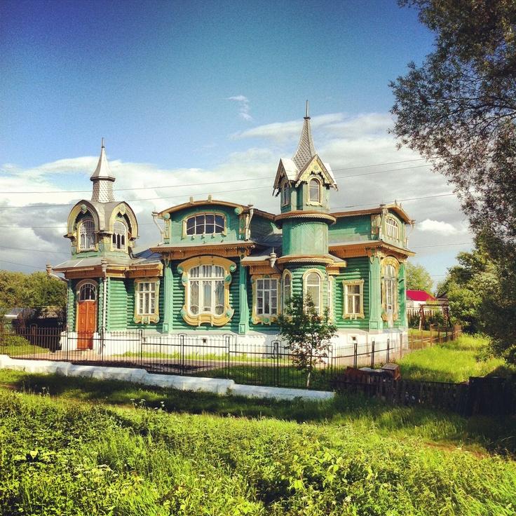 Деревянное зодчество рядом с Н-Новгородом, село Гороховец