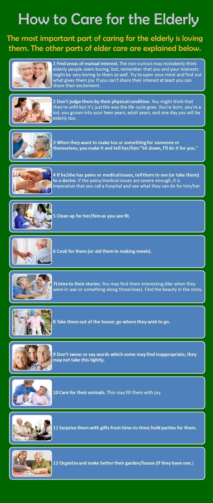 How to Care for the Elderly infographic | | www.CareAdvantageInc.com