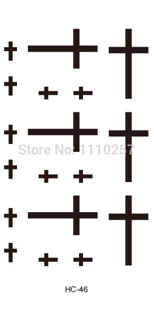 Personalized small tattoo,long lasting cross temporary tattoos for ...