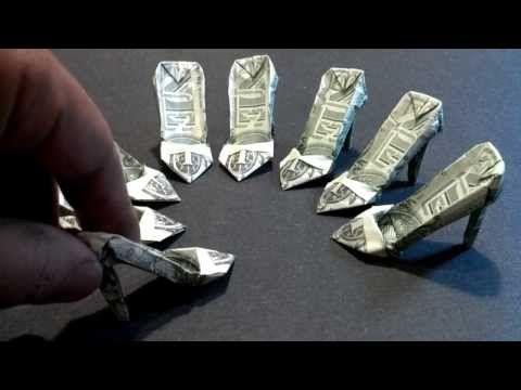 Money Origami High Heels – Dollar Bill Art – YouTu…