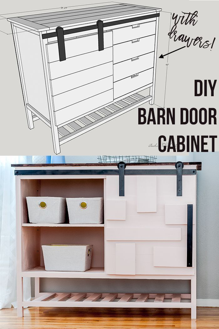 How To Build A Cabinet With Drawers And Doors : build, cabinet, drawers, doors, Sliding, Cabinet, Drawers, Plans, Build, Cabinet,, Door,