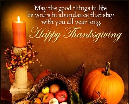 Nov 24 ❤️Celebrating Thanksgiving Day. ❤️ May the very good things in life be with us in abundance all year through,   xx