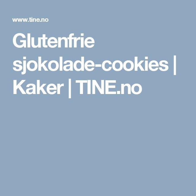 Glutenfrie sjokolade-cookies | Kaker | TINE.no