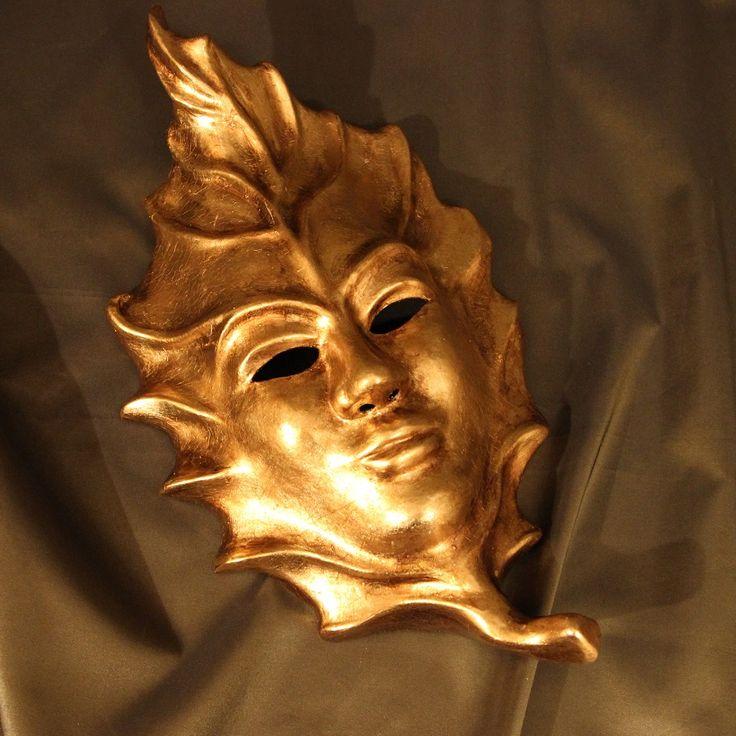 Маска Венецианский Золотой Лист