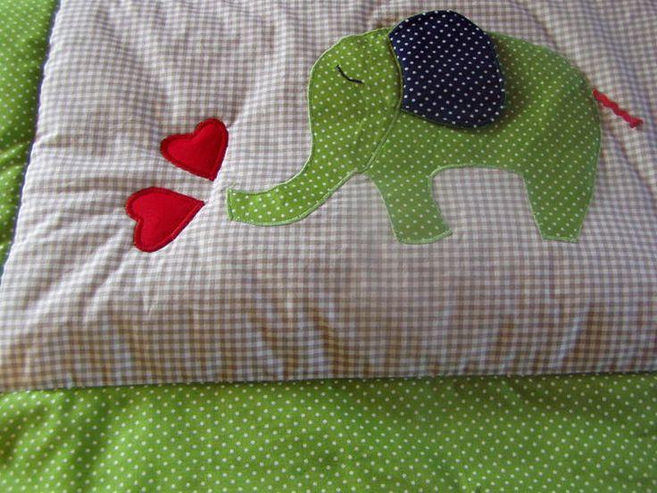 Babydecken - Babydecke mit Elefant - ein Designerstück von FarbenFroh56 bei DaWanda