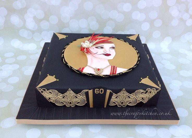 247 best art deco cakes images on pinterest art deco cake biscuits and cake art. Black Bedroom Furniture Sets. Home Design Ideas