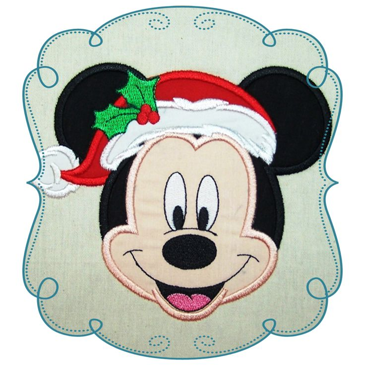Minnie Mouse Applique Machine Embroidery Design Pattern-INSTANT DOWNLOAD