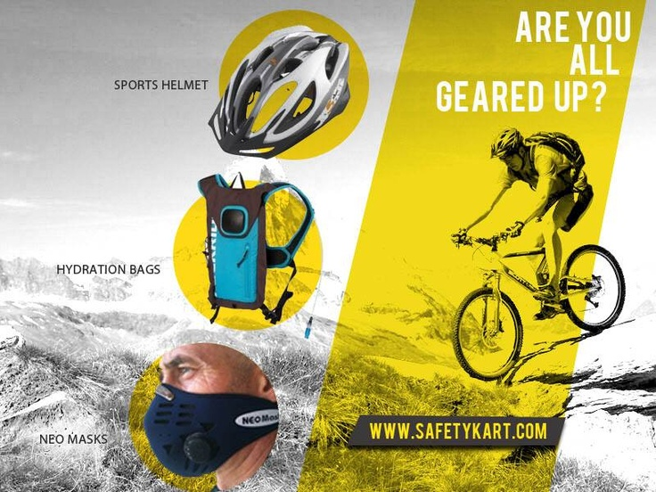 All the gears you need for riding out towards the horizon without an afterthought! Explore www.safetykart.com #Cycling #Helmets #riding