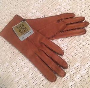 Beautiful Vintage DEERSKIN Gloves Ladies Driving Leather Gloves Conroy Sta-Soft  | eBay