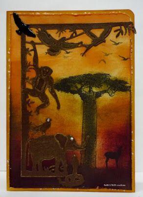 BaRb'n'ShEll Creations -  African animals, Darkroom Door - BaRb