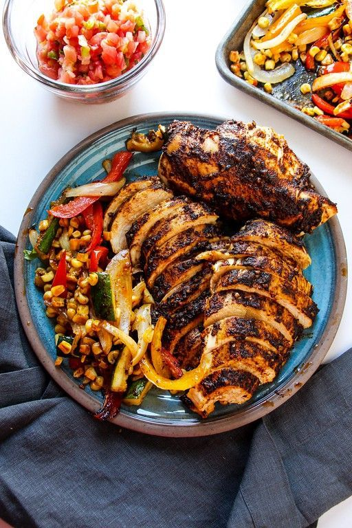 Chicken and fajita veggies seasoned and drizzles with olive oil and then baked to perfection on a sheet pan. So much flavor and one of the easiest meals! Whenever I go to a mexican restaurant I always order fajitas. When it comes out it is like my very own personal chipotle bar. You get the …
