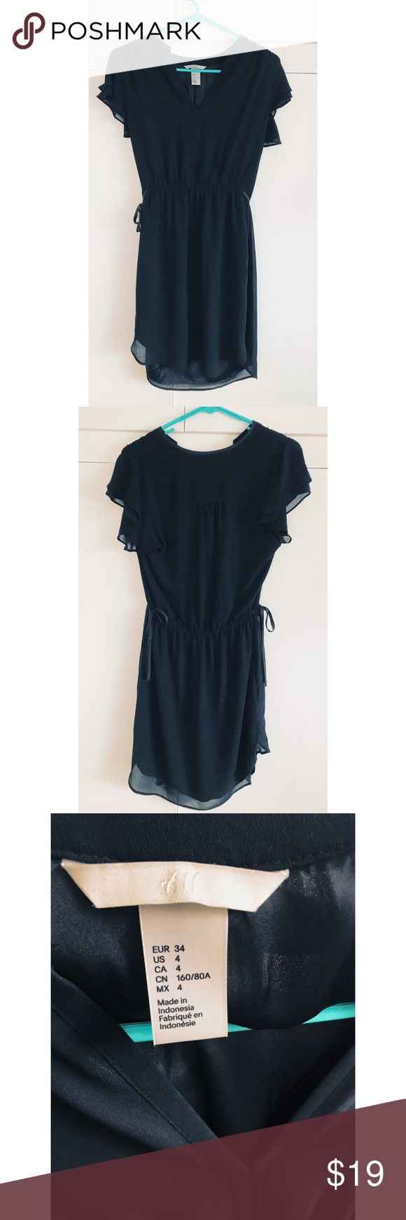 Black Chiffon Dress H&M Black Chiffon Dress. Size 4. H&M Dresses