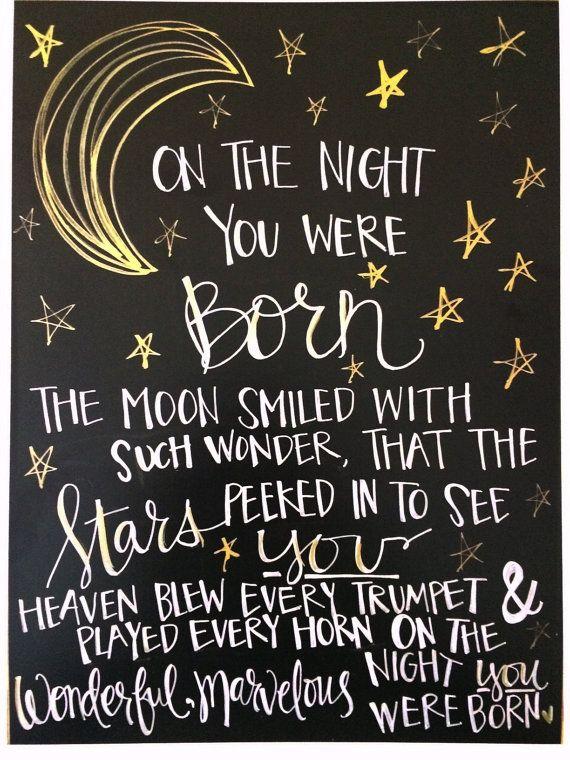 On The Night You Were Born quote print Nancy Tillman by LoftusLane