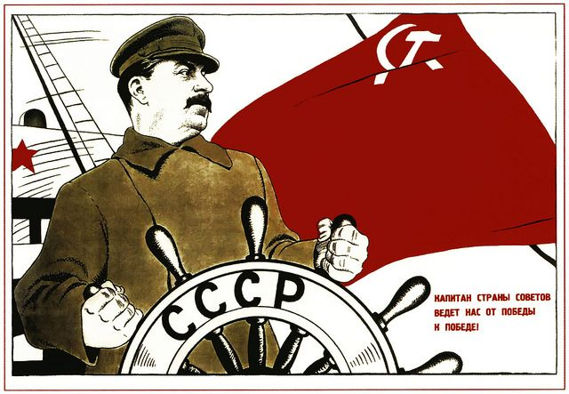 Captain of the Soviet Union leads us to victory! -