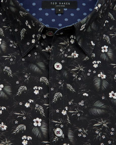 Floral print shirt - Black | Shirts | Ted Baker UK