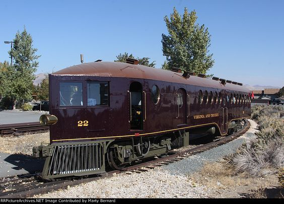 Very unusual and distinctive Virginia and Truckee short line self propelled…