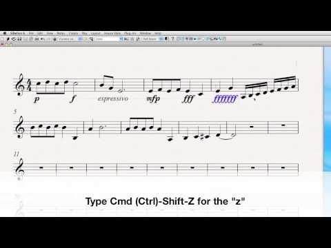 "Video tutorial: dynamics ""101"" in Sibelius."