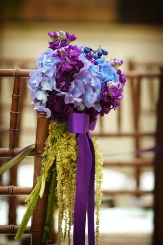 Purple wedding ideas, purple and blue