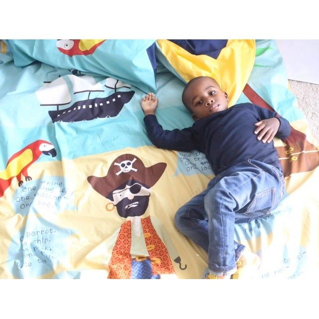 Witty Ditty 'everything a Boy Needs to be a Pirate' Single Duvet Set