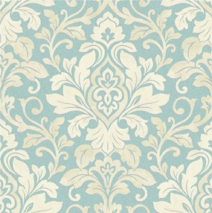 Mozart teal damask wallpaper arthouse for Teal kitchen wallpaper