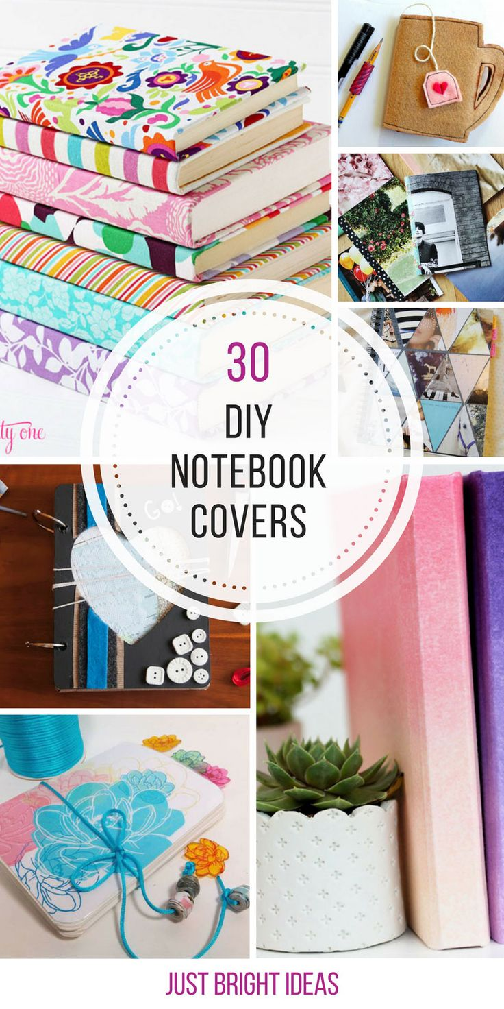 These DIY notebook covers are gorgeous and so much cheaper than buying one!