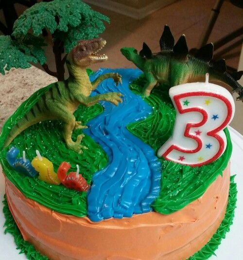 Easy Dinosaur Cake Images : Easy diy dinosaur double layer cake Dinotastic - It s A ...