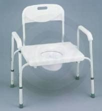 Nova Medical Products Home Travel Health And Personal Care Hospital Equipment Accessories Bariatric Commode with Back and Extra Wide Seat - Extra wide. Bucket, lid, & splash guard included. Durable powder-coated aluminum frame is easy to clean and maintain. Removable back.  - http://ehowsuperstore.com/bestbrandsales/health-personal-care/nova-medical-products-home-travel-health-and-personal-care-hospital-equipment-accessories-bariatric-commode-with-back-and-extra-wide-seat