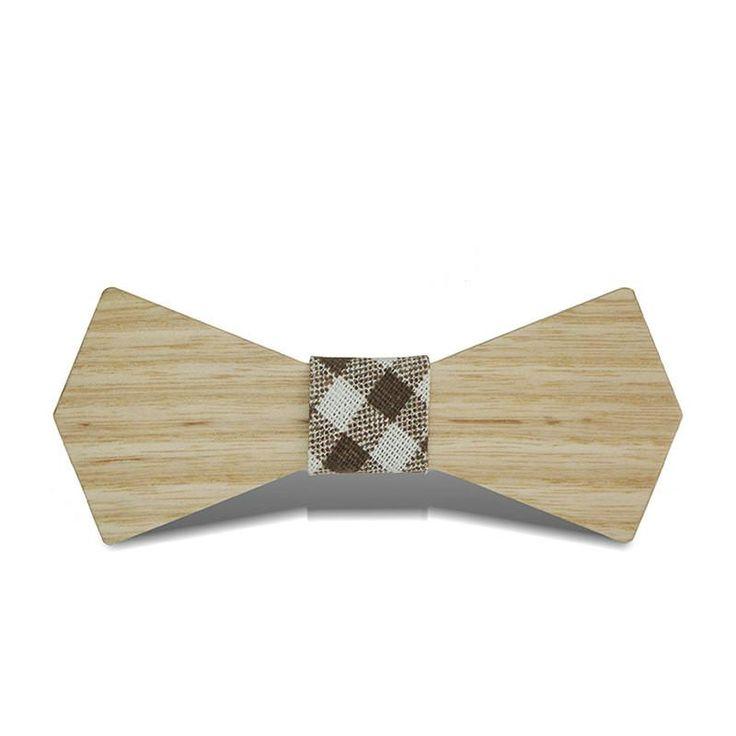 Mantieqingway Brand Noeud Papillon Handmade Hardwood Wooden Bow Tie Marriage Gravata Corbatas Bow Ties for Mens Wedding Dating