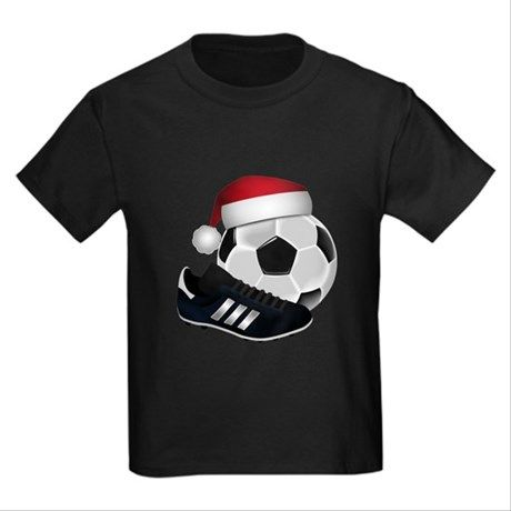 Christmas Soccer Ball with Santa Hat Tee Shirt is available in several colors, styles and sizes at #Cafepress by #Gravityx9 and #Sports4you ~ Check out the variety of gifts,home decor and more with this #ChristmasSoccer Ball design ~~  ~  #Christmasshirt  #Christmaswear #soccershirt #soccer  #sports #christmastee #christmasiscoming