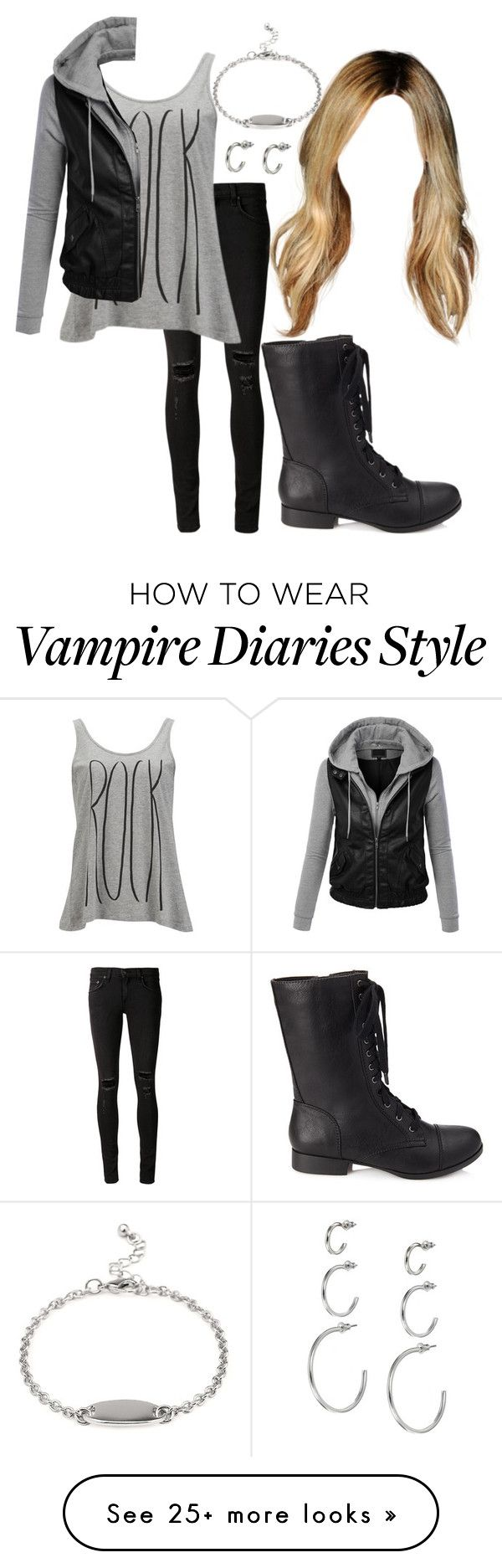 """The Vampire Diaries: Malia Gilbert [3x6]"" by grandmasfood on Polyvore featuring rag & bone/JEAN, Vero Moda, Forever 21, ASOS and LE3NO"